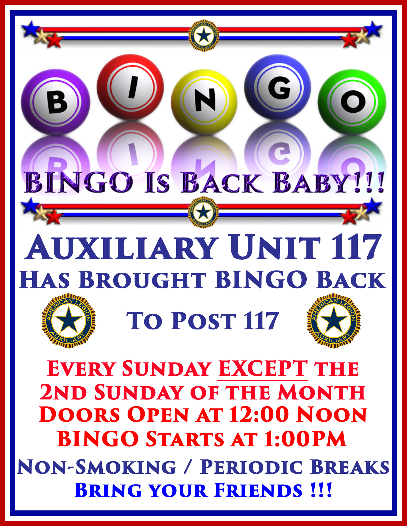 BINGO at Post 117 @ American Legion, Florida Post 117 | Palm Bay | Florida | United States