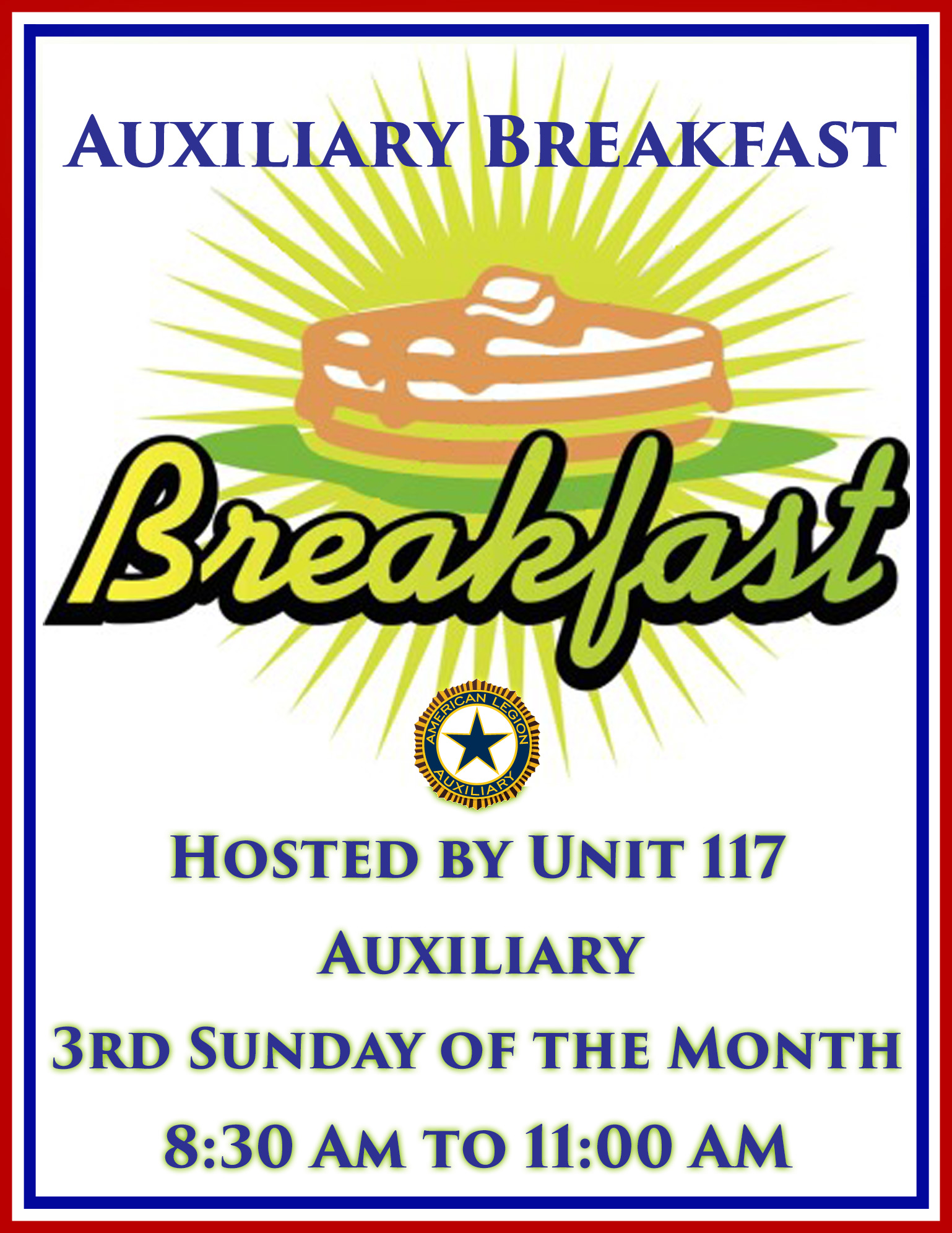 Auxiliary Breakfast @ American Legion Post 117 | Palm Bay | Florida | United States