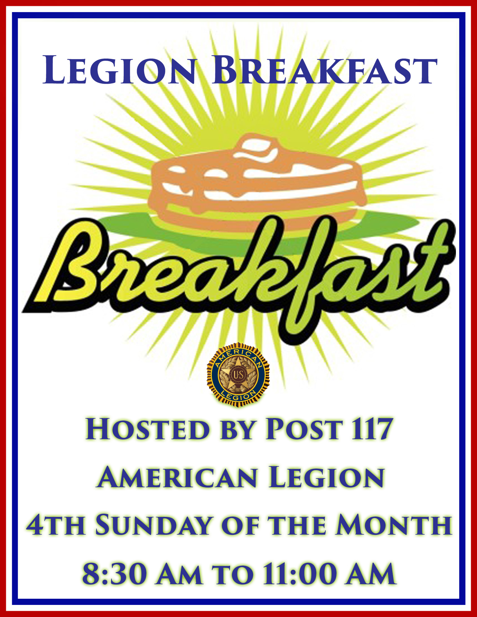 Post Breakfast @ American Legion Post 117 | Palm Bay | Florida | United States