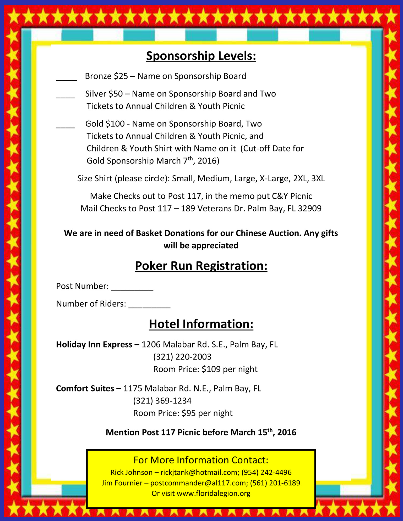Annual Children and Youth Picnic Info