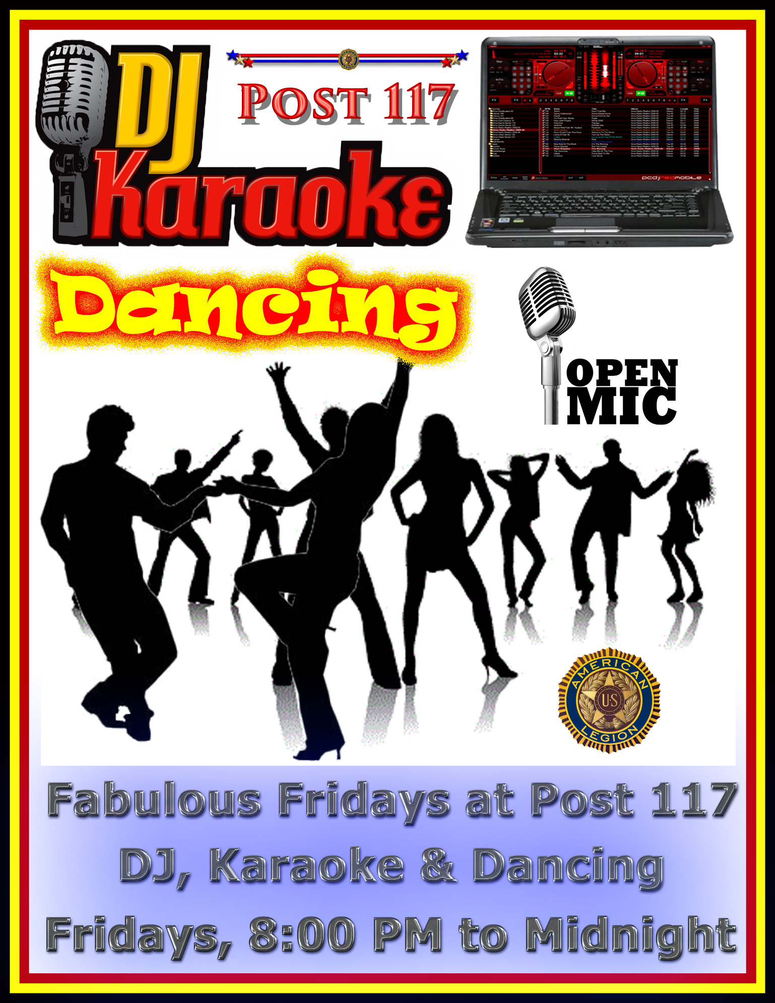 Friday Night DJ, Karaoke & Dancing @ American Legion Post 117 | Palm Bay | Florida | United States
