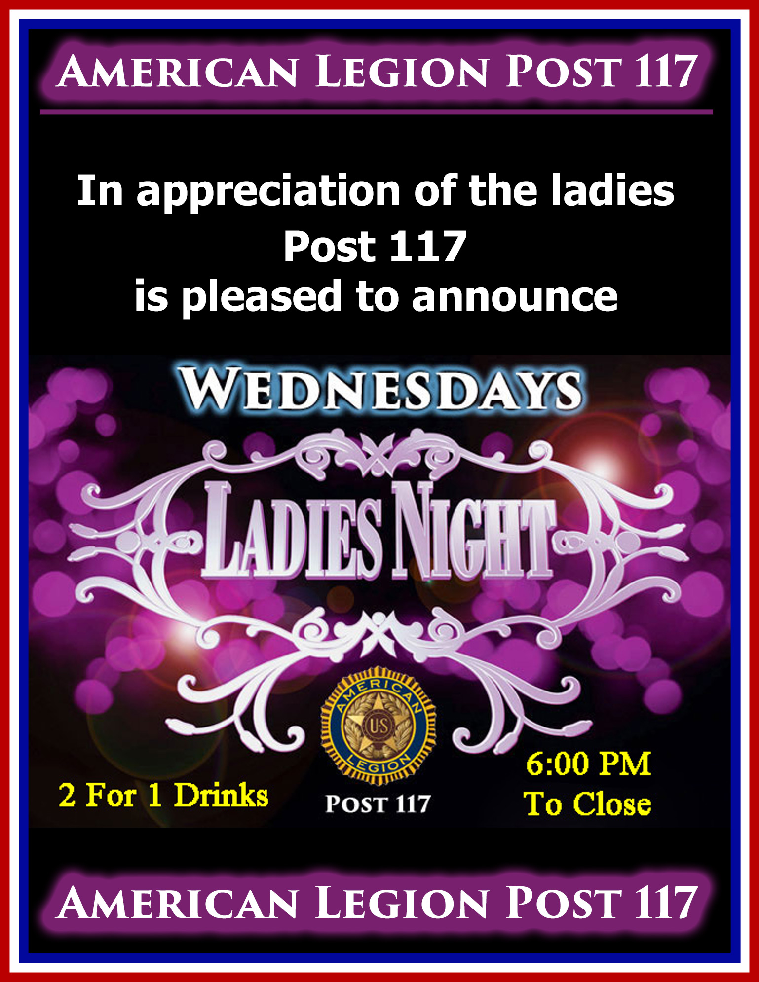 Ladies Night @ American Legion Post 117 | Palm Bay | Florida | United States
