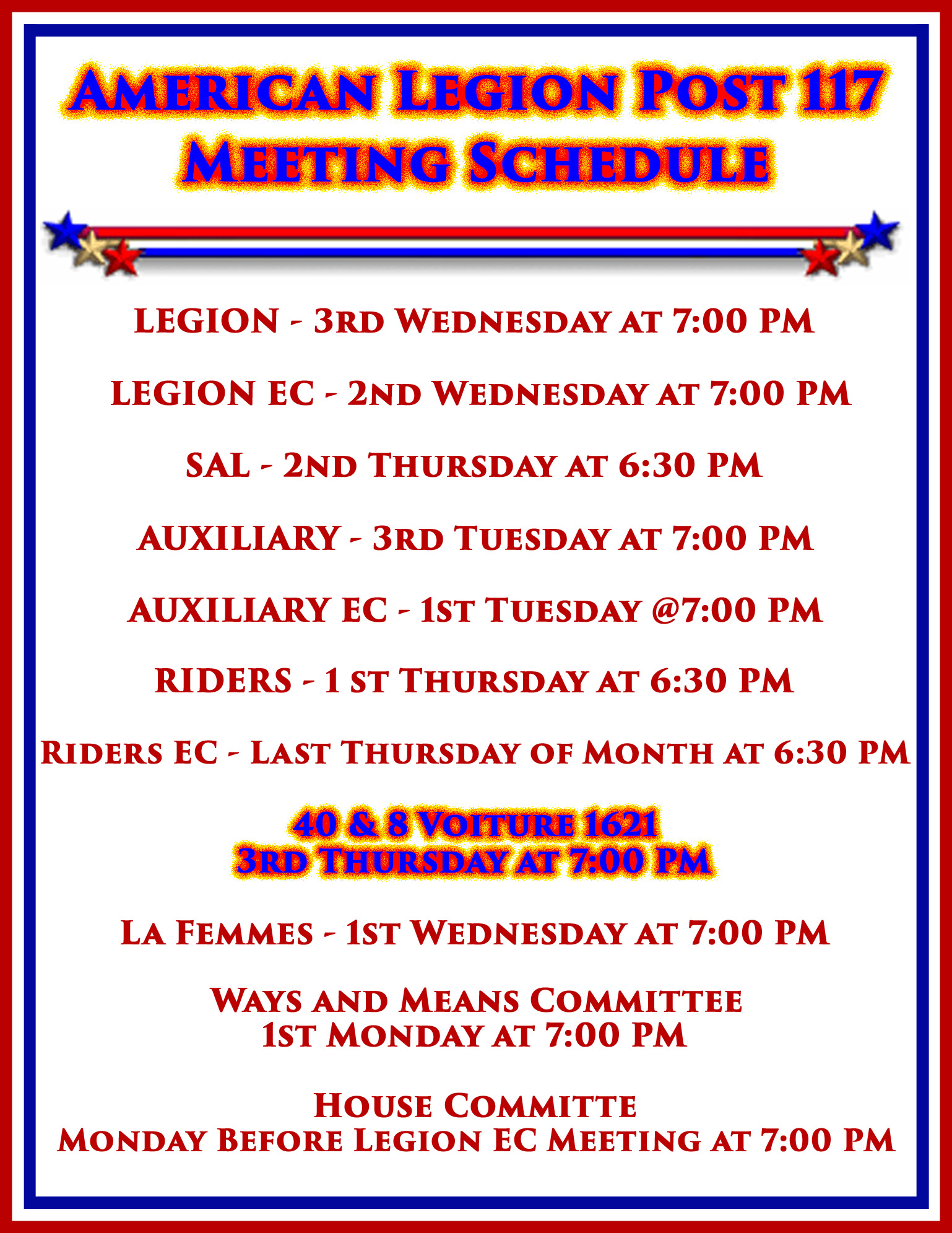 40&8 Meeting @ American Legion Post 117 | Palm Bay | Florida | United States