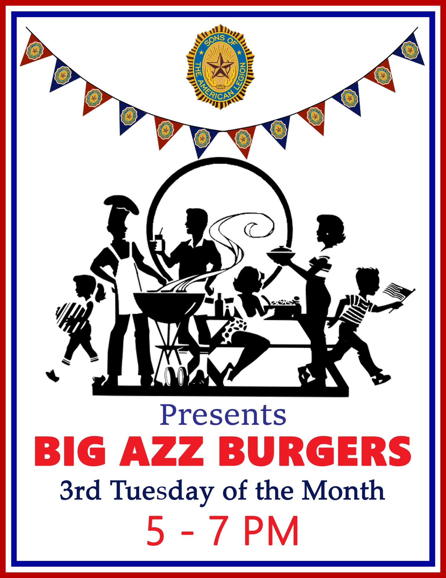 Big-Azz-Burgers @  American Legion Post 117, Charles F. Thomas IV | Palm Bay | Florida | United States